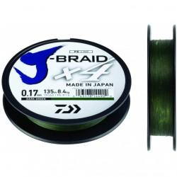 Pintas valas DAIWA J-BRAID X4, 135m (moss green)