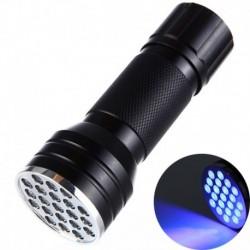 Ulravioleto šviesos (UV) žibintuvėlis, 21 LED, atsparus vandeniui