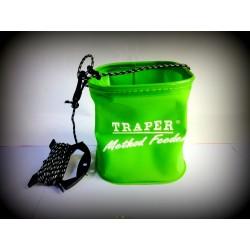 Traper Method Feeder suspaudžiamas kibirėlis vandeniui su virve