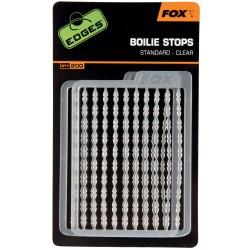 FOX boilių fiksatoriai Edges Boilie Stops standard clear