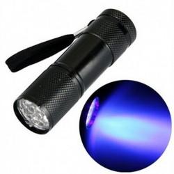 Ulravioleto šviesos (UV) žibintuvėlis, 9 LED