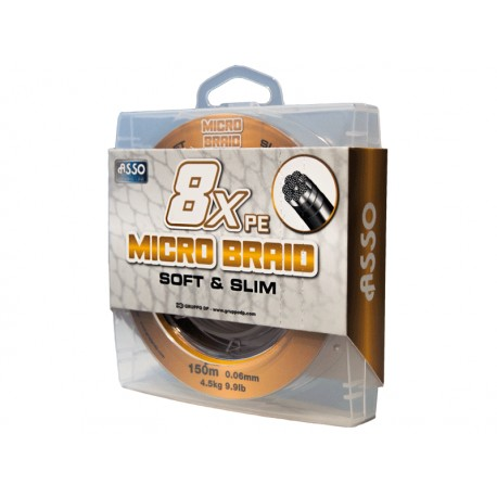 Pintas valas ASSO Micro Braid Soft and Slim 8XPE, 150m