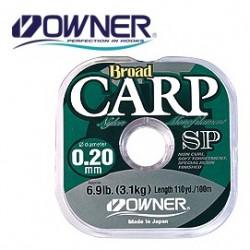 Monofilamentinis valas Owner Broad 0,26mm, CARP SP 100m