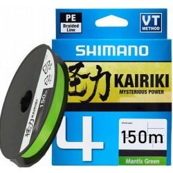 Pintas valas SHIMANO KAIRIKI 4 Mantis Green, 150m